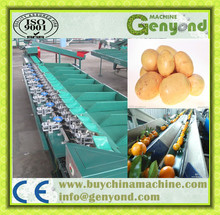Round fruit and vegetable sorting/grading machine/packing fruit sorter machine