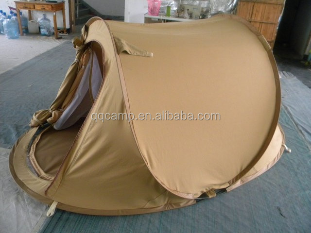 2017 double layer Pop up Cotton Canvas tent for Saudi Arabia