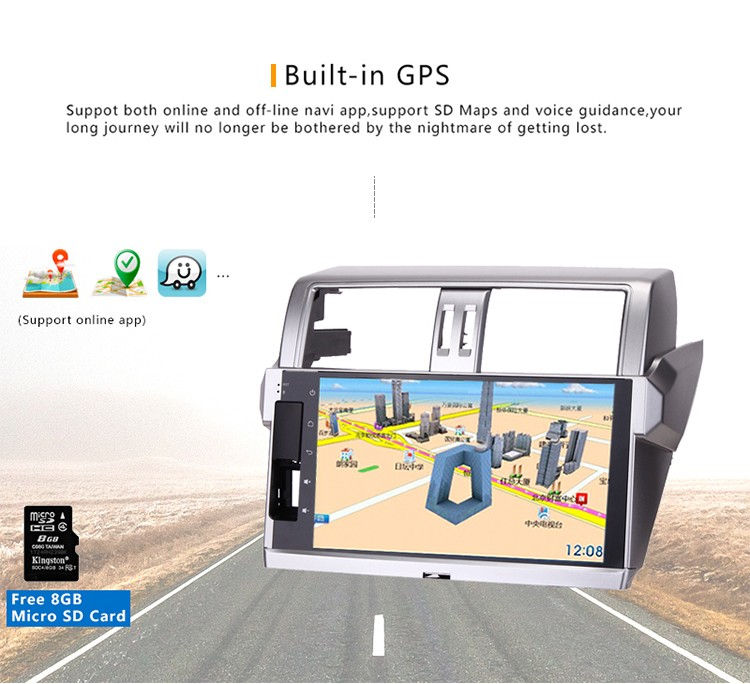 Cheap 10.2 Inch car gps Android 5.1.1 dvd player for toyota