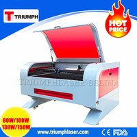 Triumph New Arrial Acrylic leather wood MDF CO2 1300*900mm laser cutting machine price