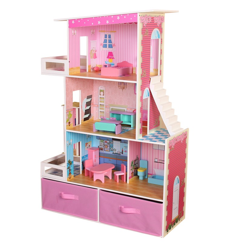 Christmas Gift Doll Miniature Houses with Toy Storage Hot sell
