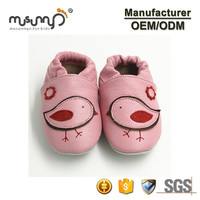 Cow leather baby shoes newborn baby girl shoes anti-slip soft babay moccasins
