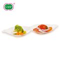 GMF double position tableware dry fruit food plate plastic for home