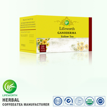 Lifeworth wholesale anti esophagus cancer weigh loss reishi extract yellow tea by high efficiency custom clearance