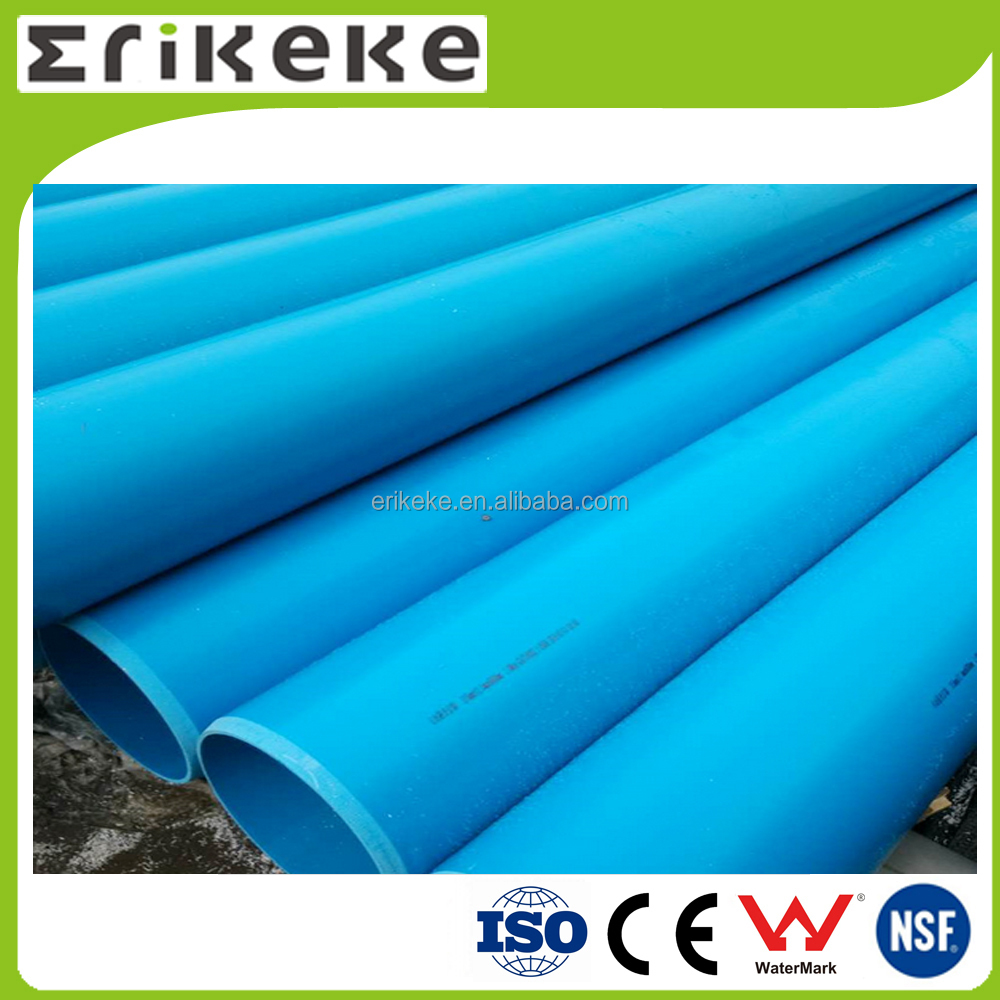 Colored pvc extrusion hard plastic blue tube