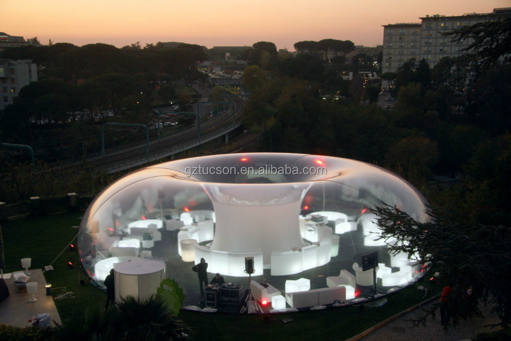 Giant clear inflatable lawn tent inflatable bubble tent for Architecture fantastique