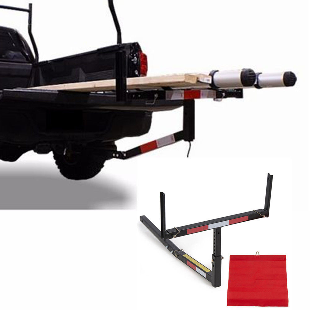 Pick Up Truck Bed Hitch Extender Extension RACK Canoe Boat Kayak Lumber w//flag