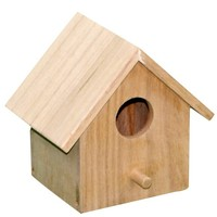 Miniature wood crafts houses unfinished wooden sparrow birdhouses