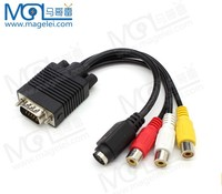 RCA to VGA Converter Adapter Cable
