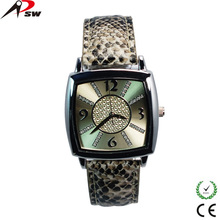 Promotion fashion dial leather ladies watches for wedding gift