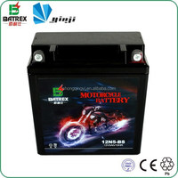 12V 5Ah Dry Charged 12N5L-BS Motorcycle Storage Battery