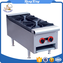 COOKUNIQUE Professional Commercial Electric Table 2 Burner Gas Stove