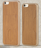 custom wood phone case pc material high quality matte UV printing paster case for iphone