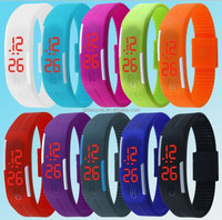 Touch Screen LED Square Silicone Watches Digital Wrist Watch Men Rubber Band Mobile Watch Phones