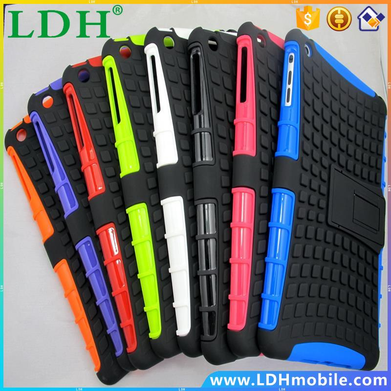 100 pcs/lot Heavy Duty Robuste Armure Combo Defender Cas Pour ipad mini 2 3 Tablet Couverture Avec Béquille