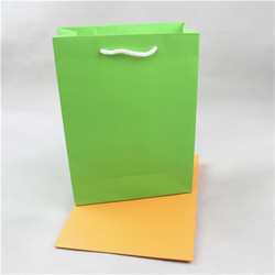 Best seller machine made paper bag with bow tie ribbon gift bag