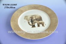 Delicate Design Artwork Porcelain Enameled Dinner Plates