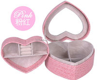 Faux Leather Jewelry Boxes with Mirror