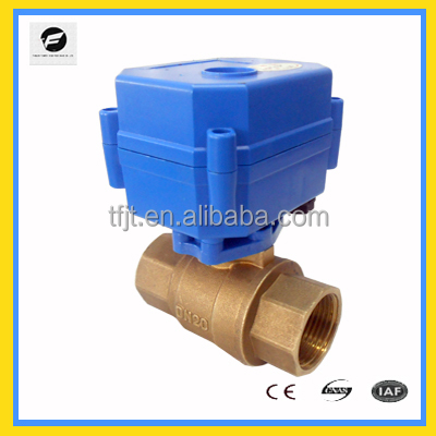 "CWX-15N 2way <strong>3</strong>/4"" DC12V low current motor valves for Irrigation equipment,drinking water equipment,"