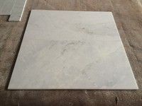China snow white natural stone marble tile