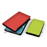 Custom multifunctional leather notebook leather portfolio with calculator