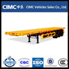 40ft Transport Container Cimc Flatbed Container