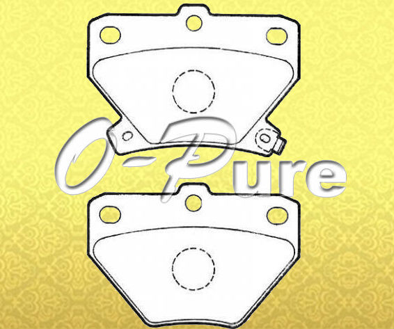 Car parts on sale for Prius o-pure less metal brake pad OE 04466-20090 None asbestos good price best seller