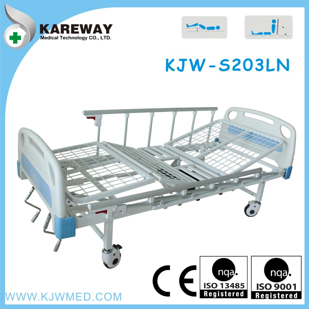 double cranks hospital bed with commode