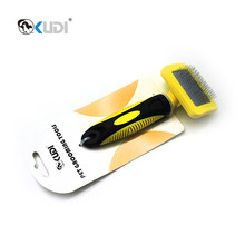 Pet grooming tool stainless steel soft slicker brush