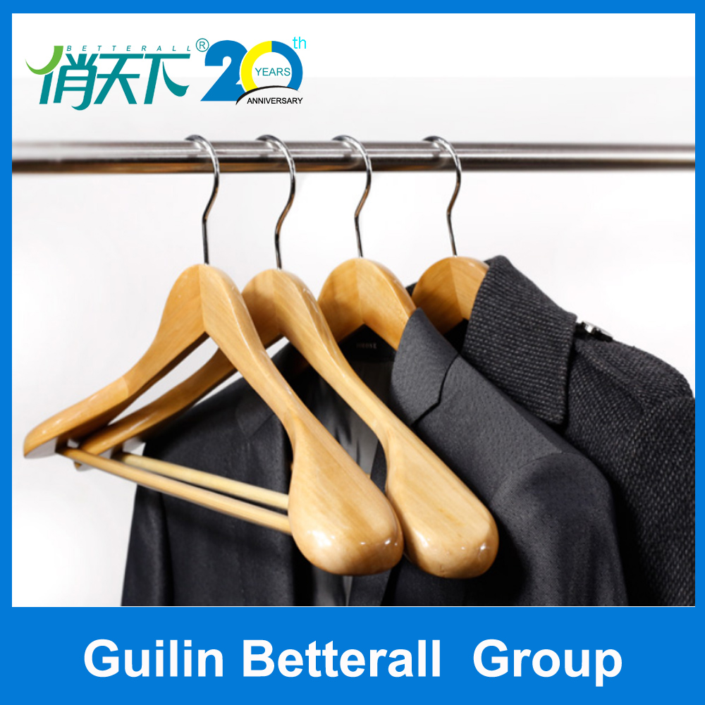 wholesale luxury wooden suit clothing clothes display rack