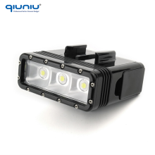QIUNIU Dual Batteries Waterproof Flashlights Lamp Underwater Diving LED Light for GoPro