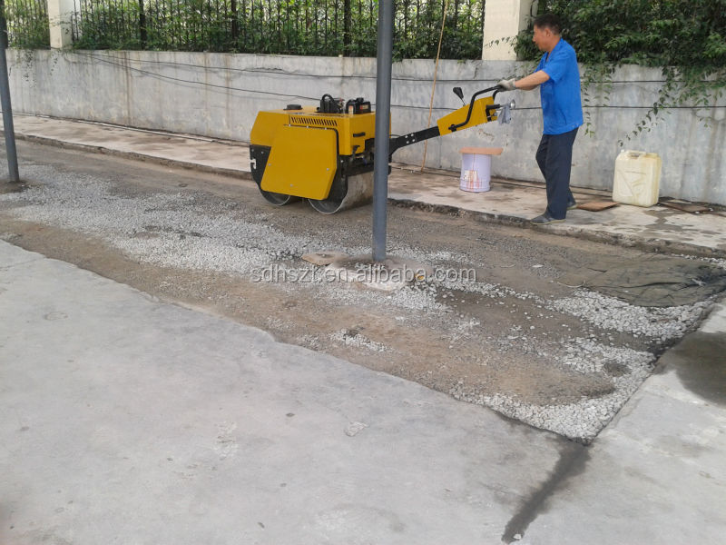 double drum walk behind vibratory road roller for sale