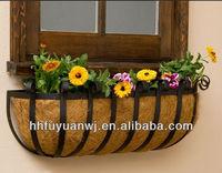 Powder Coated Wrought Iron Window Box