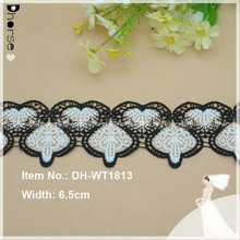 New style white & black cotton eyelet crochet Textile lace trim DH-WT1813