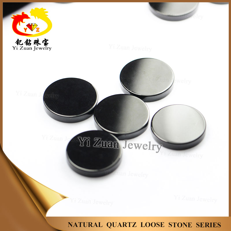 Various size round shape machine cutting natural black onyx agate stone