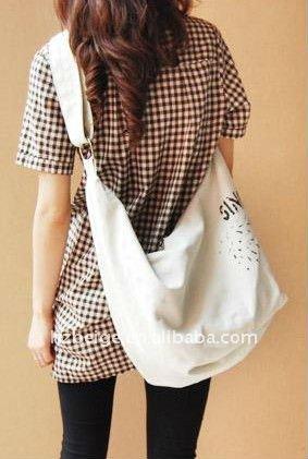 Korea Personnalit Big Sling Bag - Buy Canvas Shopping Bag,Sling ...