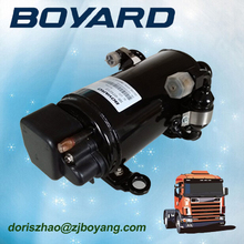 zhejiang boyard r134a brushless 12v 24v 72v electric car ac compressor for trailer air conditioner