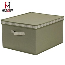 Hot Selling Luxury Customized Foldable Multipurpose Fabric Storage Box With Removable Lid