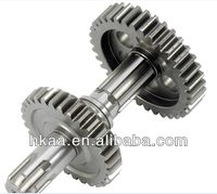 Customized Output double gear Shaft,tricycle output shaft gear shaft,motorcycle gear shaft,transmission shaft,reverse gear shaft