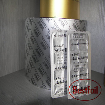Primer/Alu 25/HSL PTP Blister Lidding Foil For Pharmacy Packaging