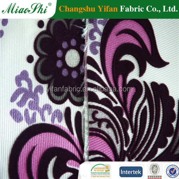 Antifouling easy clean flocking velvet fabric for sofa cover and car seat made by honest manufacturer