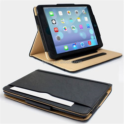 High quality luxury leather flip machine frame protective case for ipad mini 1 2 3