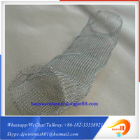 With strong overseas support Gas or liquid filter screen cloth knitted Wire Mesh