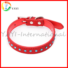 Blue Rhinestone Pet Accessories Christmas Dog Collars