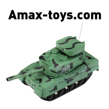 0343881-1/30 27MHz Super RC BB Cannon Airsoft Tank with 6mm BB Bullets Tank RC Toys for Kids