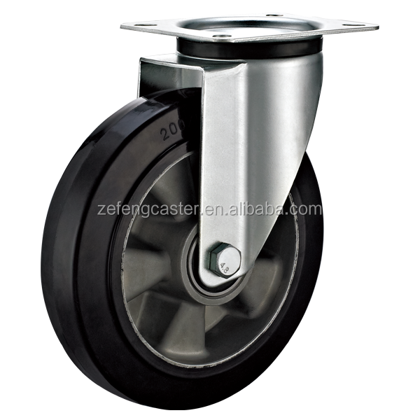 Industrial Casters with Aluminium Core Rubber Wheel