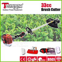 CE,GS APPROVALED GARDEN TOOLS 33CC GASOLINE BRUSH CUTTER