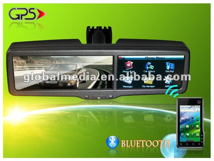 4.3 inch car rearview mirror gps navigation