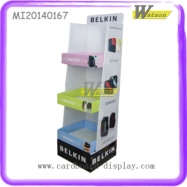 Promotional Hot-selling Custom 3-Tier Colorful Shoes Corrugated Cardboard Display Rack