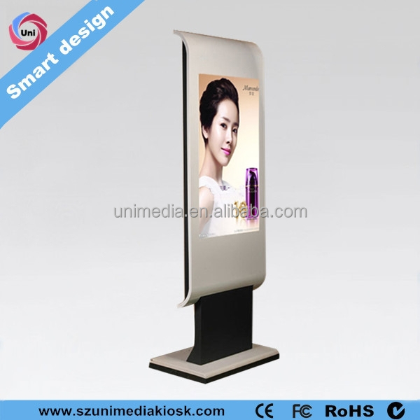 Floor stand wifi HD 42 inch LCD touch screen computer kiosk cabinets manufacture